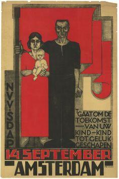 Fré Cohen - NVV SDAP 't gaat om de toekomst van uw kind, (About the Future of your Child) 1930