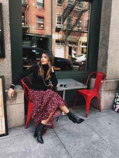 What I Wore During New York Fashion Week - The Girl from Panama Mode Outfits, Skirt Outfits, Chic Outfits, Fashion Outfits, Skirt Fashion, Simple Fall Outfits, Spring Outfits, Street Looks, Street Style