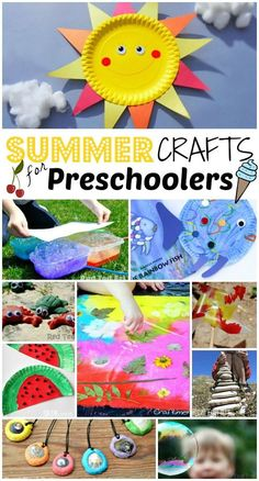 Summer Crafts for Preschoolers - Summer Crafts for Preschoolers Summer... we are READY FOR YOU!! Super fun and fabulous fun for the Summer Months. Great boredom busters for Toddlers and Preschoolers during those long hot summer days. Which will YOU make first?!