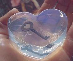 #aesthetic #heart #key #blue