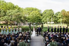 Event Planning : Five Grain Events | Venue :  Chicago History Museum | Event Planning : Monolo Blahnik Read More on SMP: http://www.stylemepretty.com/little-black-book-blog/2015/07/24/elegant-organic-chicago-history-museum-wedding/