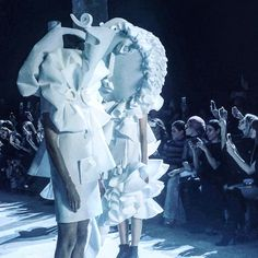 The genius of @viktor_and_rolf @karla_otto @alexanderwerz true Couture innovation, extraordinary brilliance. Fashion as art?