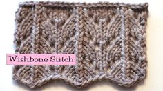 Fancy Stitch Combo - Wishbone Stitch. Ideal for sock insteps and side of mittens or gloves
