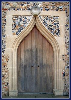 Hockley Church doorway Overlooking Crouch Valley, Ss Peter and Paul, dominates the skyline on the edge of Hockley, in Essex, England. church door way