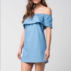 Cute Soft Blue Jean Dress