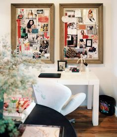 Transform a pair of custom frames into memo boards for an office/craft nook-adding a personal touch!