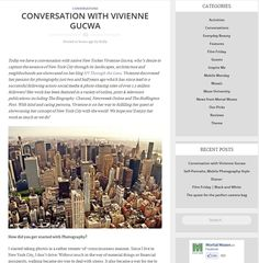 Conversation with Vivienne Gucwa - An interview about my New York City photography over on Mortal Muses - http://mortalmuses.com/2012/10/23/conversation-with-vivienne-gucwa/