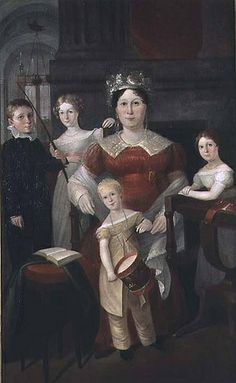 Portrait of Mrs Piper and Family Augustus Earle