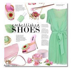 """""""Magic Slippers: Embellished Shoes"""" by heather-reaves ❤ liked on Polyvore featuring Dolce&Gabbana, Blugirl Folies, Les Néréides, BillyTheTree, Essie, Lancôme and embellished"""