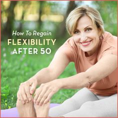 How To Regain Flexibility Over 50 - Get Healthy U Aging comes with a whole host of unpleasant issues. Use these tips & stretches to regain flexibility over 50 & start feeling like your younger self again! Stretches For Flexibility, Increase Flexibility, Flexibility Workout, Best Stretches, Stretching Exercises, Stretching For Seniors, Chair Exercises, Core Exercises, Workout Exercises