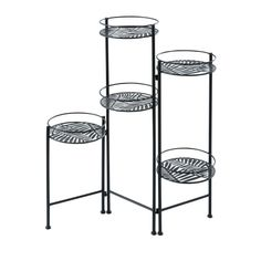 Black Openwork Metal Plant Stand with Foliage Motif on Maisons du Monde. Take your pick from our furniture and accessories and be inspired! Metal Plant Stand, Garden Accessories, Jewelry Holder, Terrazzo, Bathroom Interior, Decorative Objects, Interior Inspiration, Metallica, Sweet Home