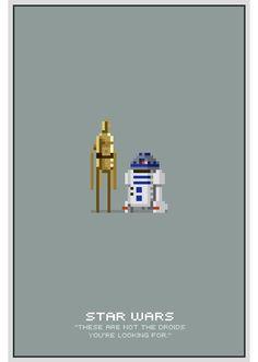 8-bit star wars posters - michael myers