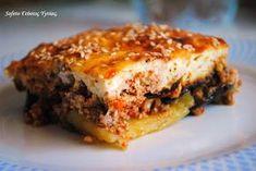 Μουσακάς …υγείας, αλά Sofeto ! Ground Meat Recipes, Greek Recipes, Meatloaf, Lasagna, Sweet Home, Food And Drink, Ethnic Recipes, Sausages, Foods