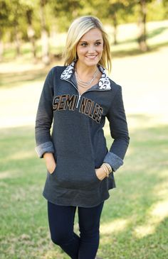37f090b4bad FLORIDA STATE  COZY UP  QUARTER ZIP TUNIC