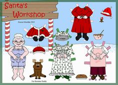 Mrs. Claus paperdoll #christmas crafts #kids #vintage