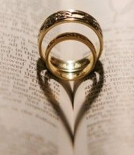 Do it with a Bible :) Super cute way to show our love is made by God!