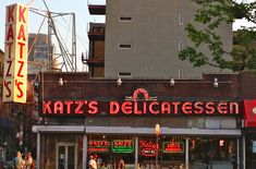 """Katz's Delicatessen, Manhattan's Lower East Side, New York City, New York.  This is where the orgasm scene from """"When Harry Met Sally"""" was shot."""