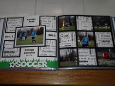 Scrapbook layout from Erik's Sr Scrapbook / Album - Soccer