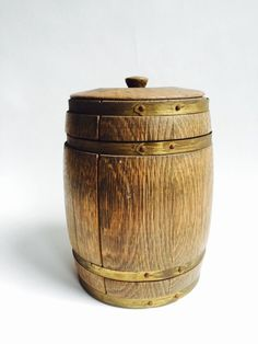 Een persoonlijke favoriet uit mijn Etsy shop https://www.etsy.com/listing/233703937/antique-tobacco-jar-drum-wooden-barrel