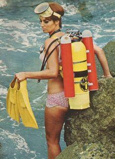 Vintage scuba ladies