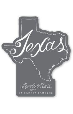 Texas Line Art Sticker
