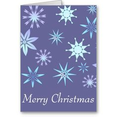 Snowflake Pattern Christmas Cards
