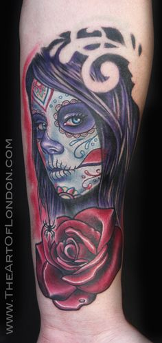 ~Sugar Skull Girl~ #tattoo #tattoos #ink #inked