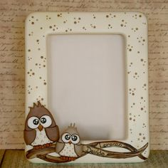 OWL FRAME Art N Craft, Craft Stick Crafts, Clay Crafts, Diy And Crafts, Paper Crafts, Clay Wall Art, Clay Art, Cute Frames, Picture Frames