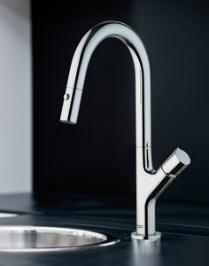 Franke faucets: combining form and function in your kitchen.  #KitchenDesign #InteriorDesign #KithcenFaucet