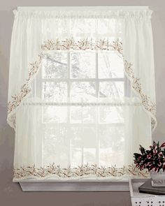 french country floral balloon shade pull up austrian cafe kitchen