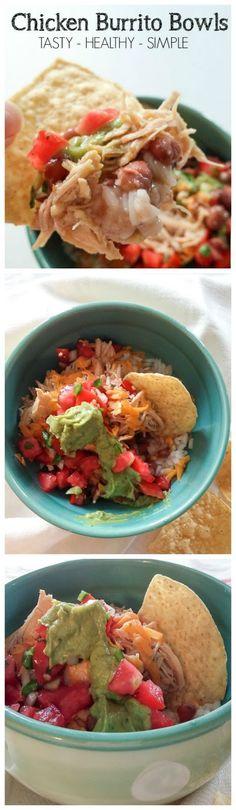 Chicken Burrito Bowls - easy and delicious! | DIY beautify