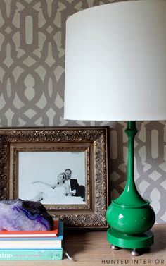 Add height to a Lamp by adding cabinet knobs to the base.