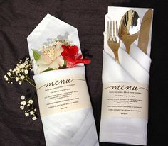 Printable Wedding Menu Wedding Menu Template Menu Cards