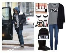 """Airport with Harry"" by suravidas ❤ liked on Polyvore featuring Paige Denim, Carmakoma, MSGM, UGG Australia and Laura Geller"