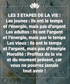 Life Quote: Santé Magazine  Le magazine de la santé naturelle Quotes About Everything, Quote Citation, Positive Motivation, Thinking Quotes, French Quotes, Positive Attitude, Sentences, Wise Words, Quotations