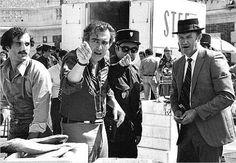 Frankenheimer y Gene Hackman en el rodaje de 'French connection II'