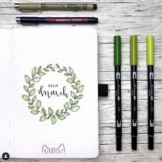 Looking for the best bullet journal ideas for your bujo? Here is a beautiful simple and easy bullet journal plants theme that is perfect for you. Bullet Journal Fonts, Bullet Journal Weekly Layout, March Bullet Journal, Bullet Journal Cover Page, Bullet Journal Tracker, Bullet Journal Notebook, Bullet Journal Aesthetic, Bullet Journal Inspo, Bullet Journal Spread
