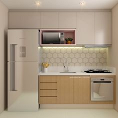 Do the kitchen wall cabinets become your lovely choice to apply in the small kitchen? This is a kind of upper cabinet design that is usua. Apartment Kitchen, Home Decor Kitchen, Kitchen Furniture, Kitchen Interior, New Kitchen, Home Kitchens, Kitchen Ideas, Mini Kitchen, Cheap Furniture