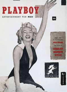 First cover of Playboy magazine, December 1953: Marilyn Monroe
