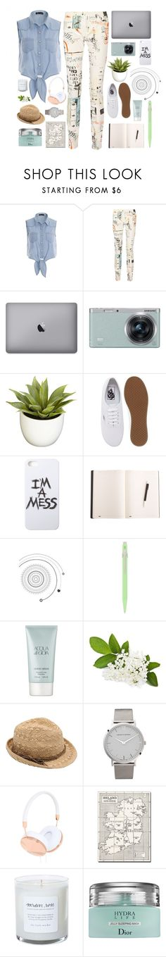 """:D"" by lover-of-pie ❤ liked on Polyvore featuring MM6 Maison Margiela, Samsung, Nearly Natural, Vans, LAUREN MOSHI, Caran D'Ache, Giorgio Armani, M&Co, Larsson & Jennings and Frends"