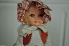 VINTAGE Collectable 6.5 inch Traditional Souvenir Doll Farm Country Girl (E9) by RillyRoos on Etsy