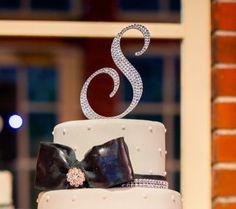 Swarovski Crystal Monogram Cake Topper  6''  Any by OCsparkles, $75.00