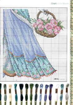 from Cross stitch collection 223 Cross Stitch Collection, Stitch 2, Angel Art, Rug Hooking, Pearl Beads, Cross Stitching, Pattern Fashion, Cross Stitch Patterns, Needlework