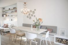45 Attractive Dining Room Design for Your Home 24 Geometric Furniture, Interior, Dining Room Design, Dining Furniture, Home Decor, Attic Living Rooms, Painted Dining Table, Dining Table Chairs, Outdoor Furniture Collections