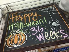 Pregnancy Chalkboard (36 Weeks-Halloween)