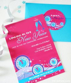 Bird's Party Blog: New Year's Eve Party Ideas + FREE Printables!!