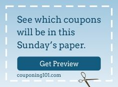 Check out which coupons will be in this Sunday's newspaper!