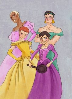 Boy Princesses by *prettyellowcape  Oh look, I just died of laughter.