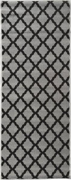 "Amazon.com - Glamour Collection Yellow Contemporary Moroccan Trellis Design Runner Rug (20""x59"") Lattice Runner Rug Non-slip Kitchen and Bathroom Mat Rug By Ottomanson -"