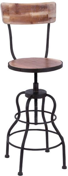 "UMA Inc Metal Wd Bar Chair 43""H, 15""W"